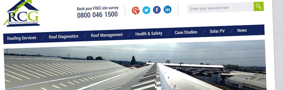 Website Design For Roofing Consultants Group In Warrington