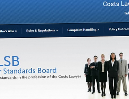 Website created for Costs Lawyer Standards Board in Manchester